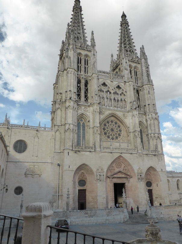 The beautiful cathedral. First started in the 12th and 13th centuries. When finished it did not have the spires ... I think it must have really resembled Notre Dame. Later in the 15th century the spires were added.