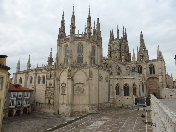 A side view of the Cathedral in Burgos as we were leaving this morning.