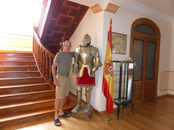 Our hotel is an old rural manor - are historical family pictures and memorabilia everywhere; both military and from the bull fighting ring.