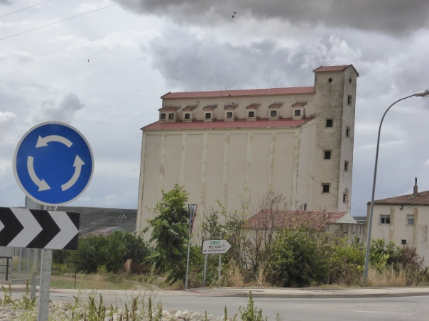 This was unusual.... Yes for those who have lived on the prairies, that is a grain elevator and the first one we have ( ever!) seen in Europe.