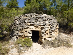 A pilgrims shelter, we have seen these in long stretches between any areas of habitation