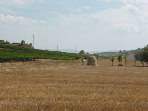 Off in the distance, a rock built, igloo like structure that could house 10 or a few more. We understand that these are used to accommodate the seasonal  grape picking migrant force from Africa.