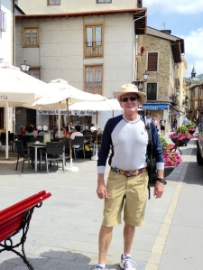Another ancient pilgram found wandering the streets and cafes of Villafranca.