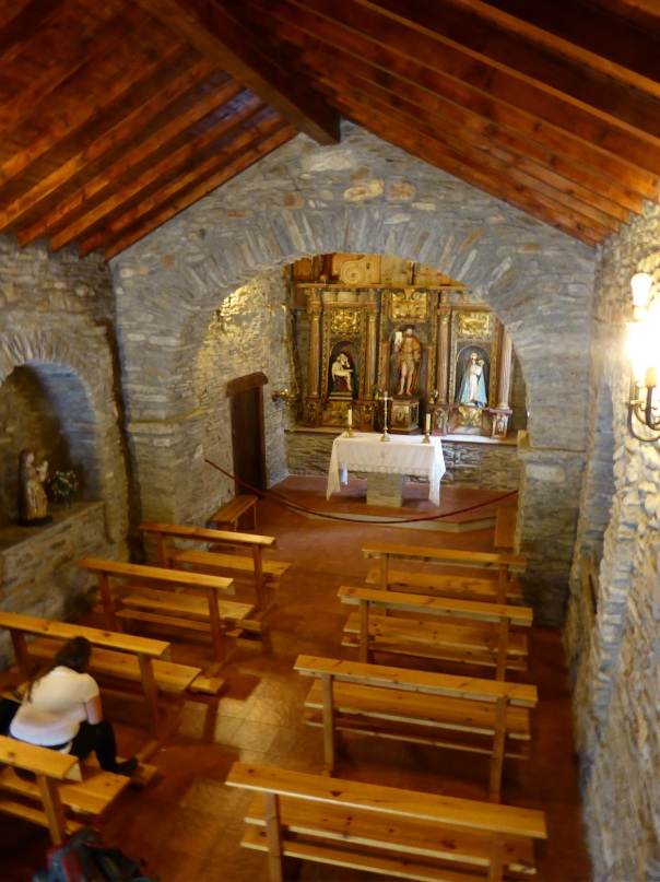 Inside that little nondescript chapel by the road are all the relics and treasures of the church - no guards, no cameras, no attendant. We like to think that they are protected by the spirit of the Camino.