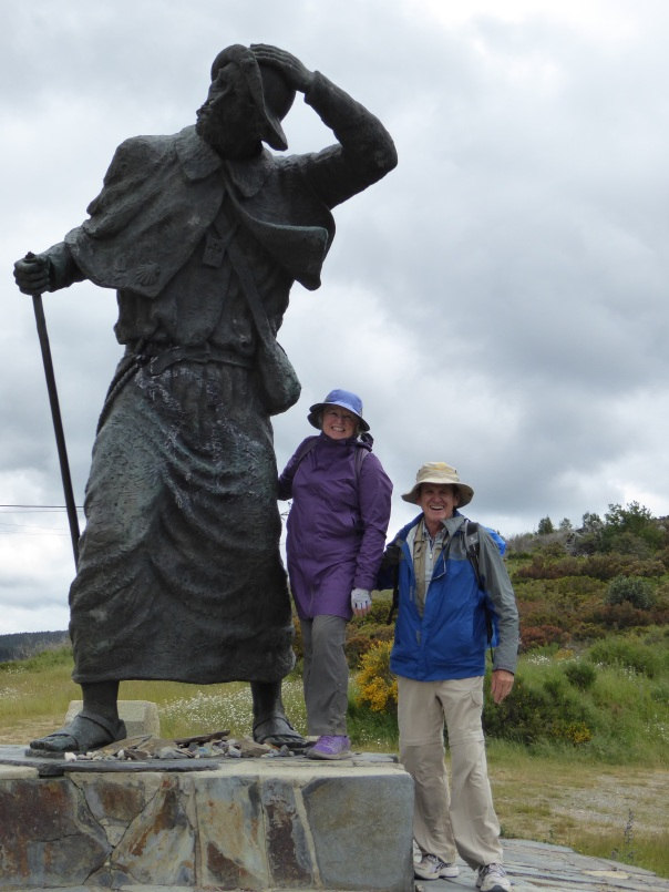 It is tough fighting the wind. Need to stop and think sometimes - of earlier pilgrims without gortex, walking boots, maps and compass.