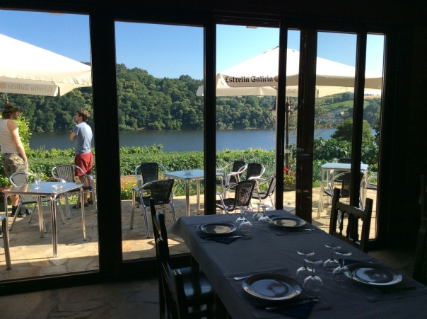 The view from the dining room - that's the lake formed by the dam that flooded the valley with over 25 feet of water.