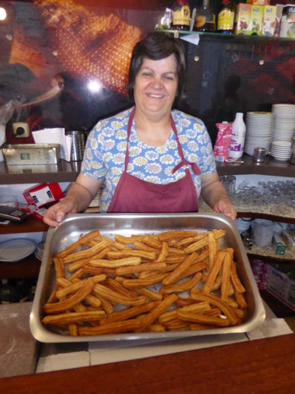 Rod's new best friend.... The churro lady, she gave us some as a breakfast treat!