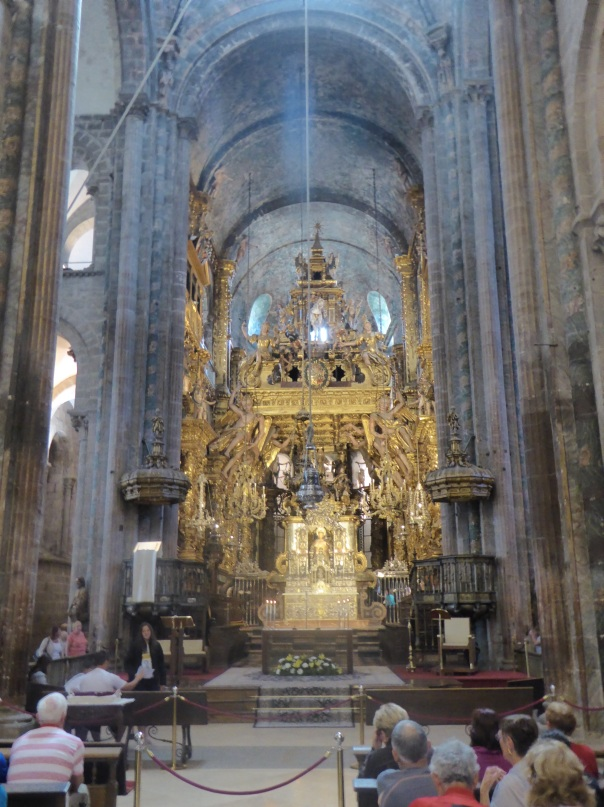 The alter area of the cathedral.