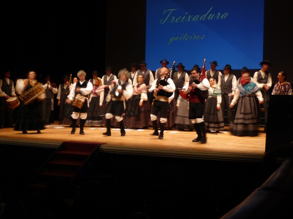 The Galetian celebration we attended at a small local theatre. 25 singers and more than 15 pipers, drummers and dancers entertained a very local audience. How fortunate we were to have been told about it. We suspect we may have been the only non-locals in the crowd.