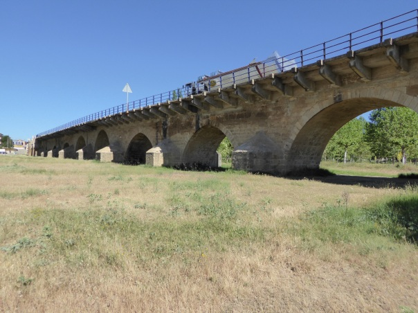 Here a bridge over 500 years old with over 20 spans, most now spanning arid land - a sign of changing water conditions in The country.