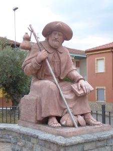 One of many statues along the Camino