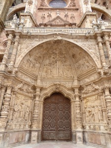Magnificent entry doors to Cathedral.