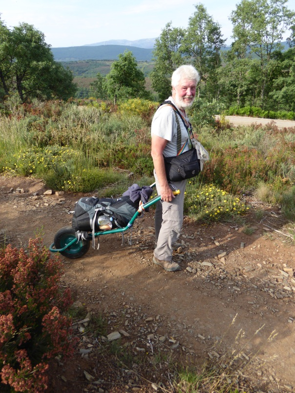 A Camino inspiration, home made cart, bandaged led and a whole lot of determination.